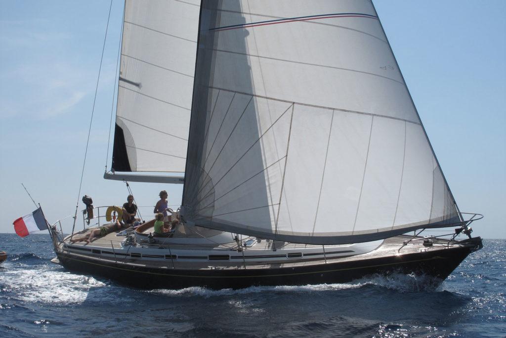 Le voilier et son équipage en croisière